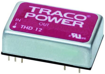 TRACOPOWER THD 12WI 12W Isolated DC-DC Converter Through Hole, Voltage in 18 → 75 V dc, Voltage out 5V dc