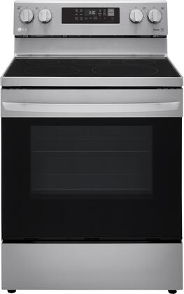 LREL6323S Single Oven Electric Range with 6.3 cu. ft. Capacity  Convection  Airfry and Wifi Enabled in Stainless