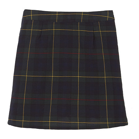 French Toast Plaid Little & Big Girls Scooter Skirt, 14.5 Plus , Green