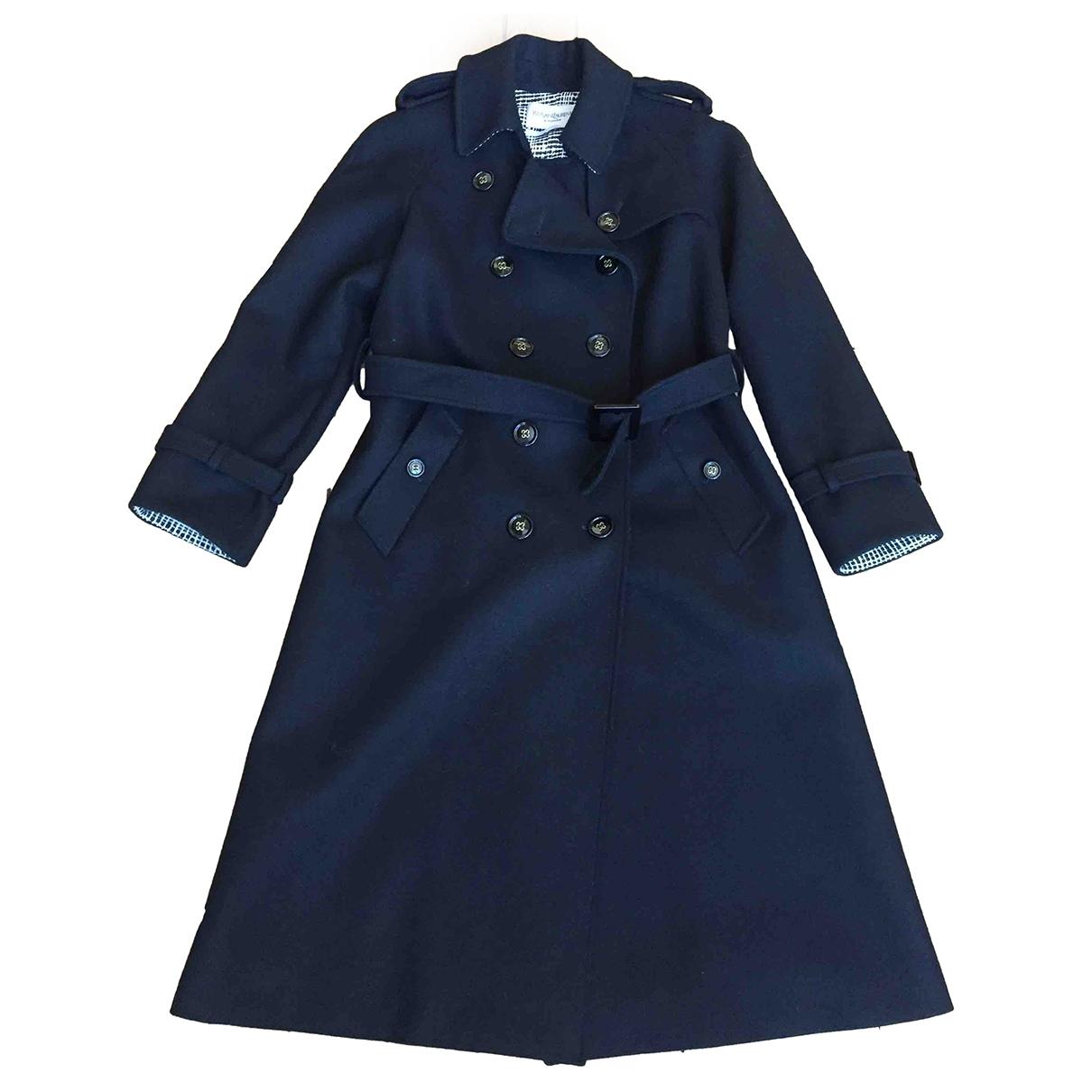 Yves Saint Laurent \N Black Wool Trench coat for Women 40 FR
