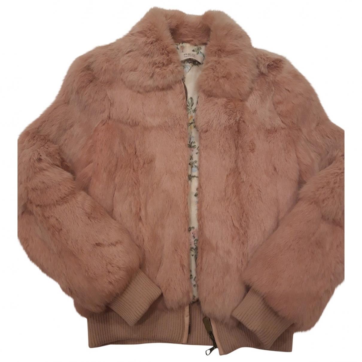 Red Valentino Garavani - Veste   pour femme en lapin - rose