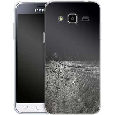 Samsung Galaxy J3 (2016) Silikon Handyhuelle - Wood Grain Slice von caseable Designs