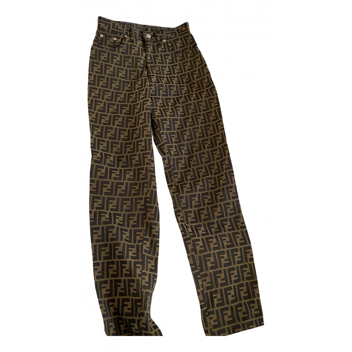 Pantalon recto Fendi
