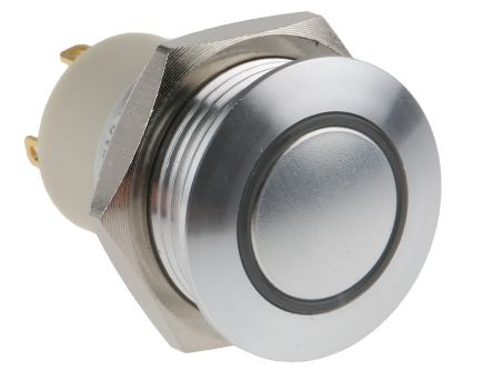 RS PRO Single Pole Single Throw (SPST) Momentary Red LED Push Button Switch, IP67, 16 (Dia.)mm, Panel Mount, 36V dc (20)
