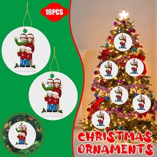 Wood Art Personalized Survived Family Of Ornament 2020 Christmas Decor - 3.93x5.9x1.96 inch (C)