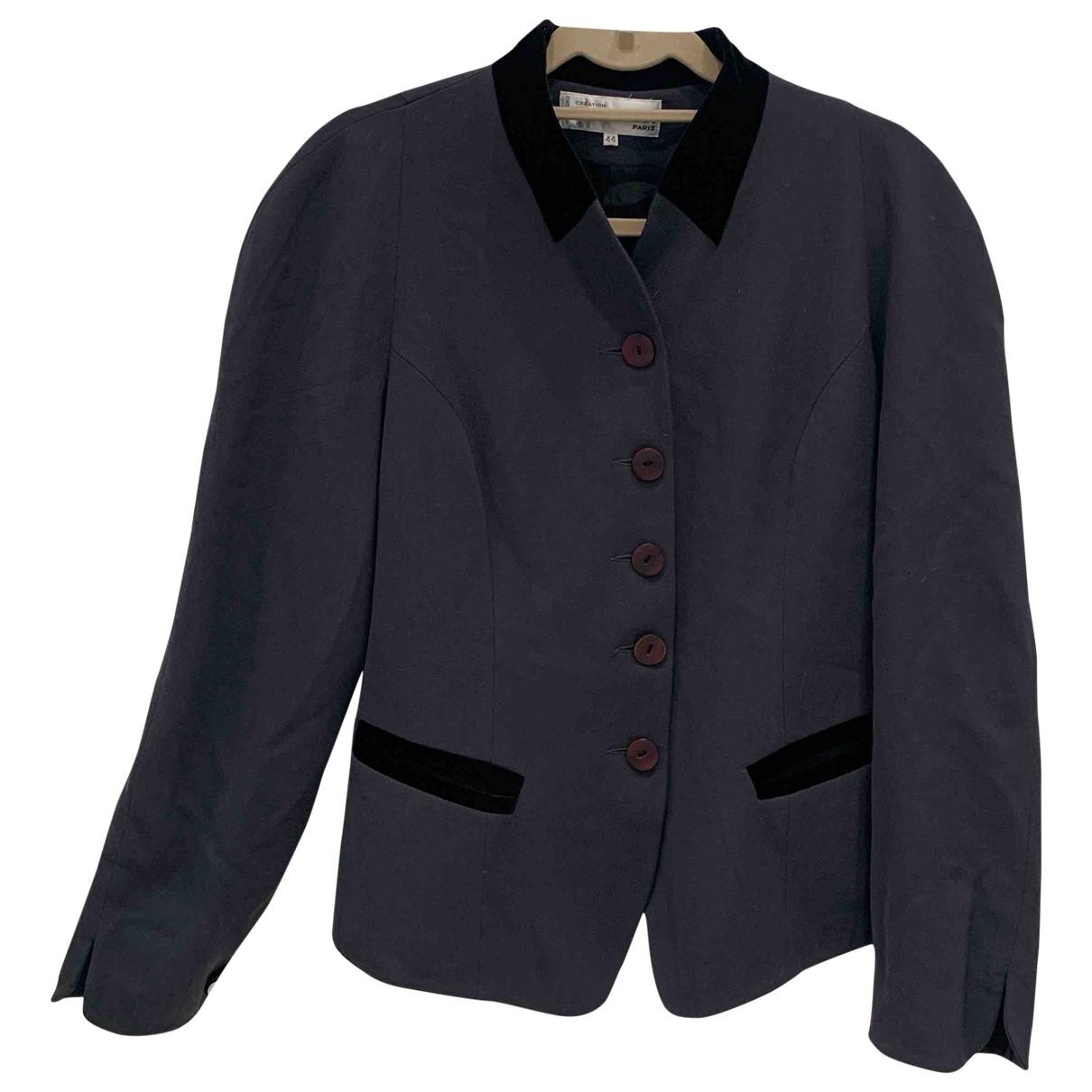 Pierre Cardin \N Anthracite Wool jacket for Women 44 FR