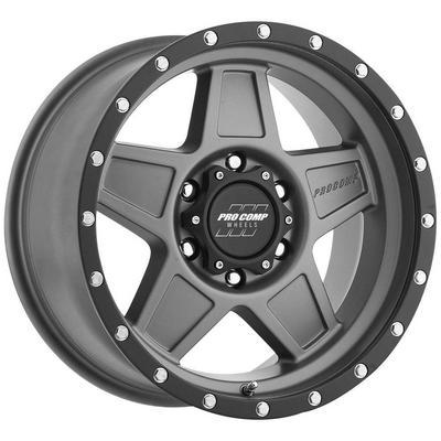 Pro Comp 35 Series Predator, 17x8.5 Wheel with 6 on 5.5 Bolt Pattern - Matte Graphite - 2635-78583