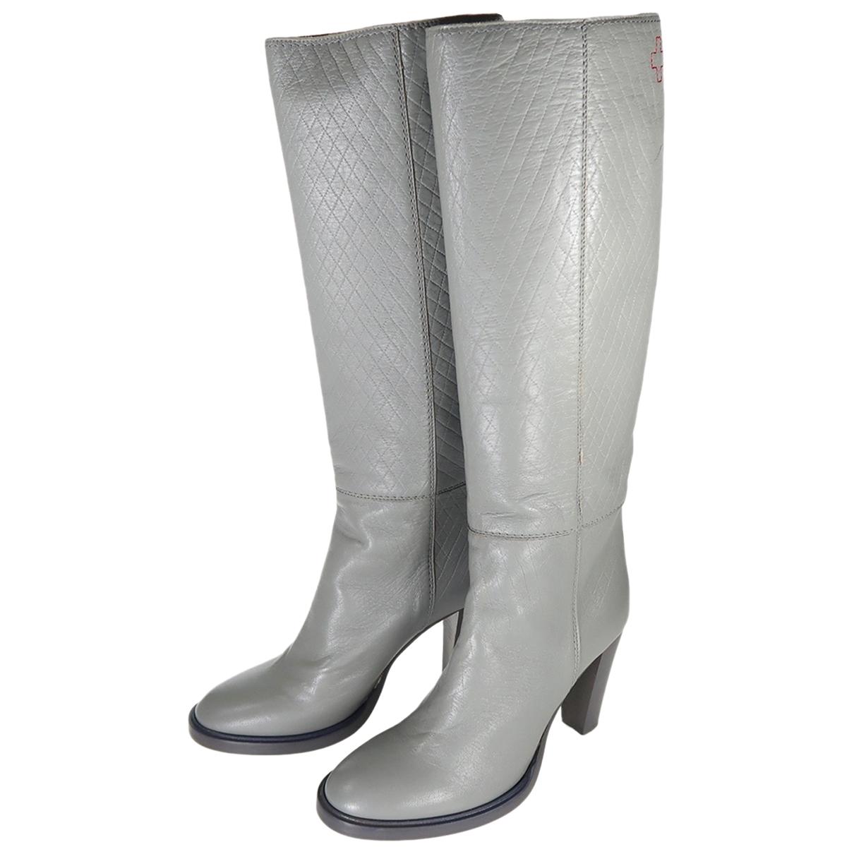 A.f.vandevorst - Bottes   pour femme en cuir - gris