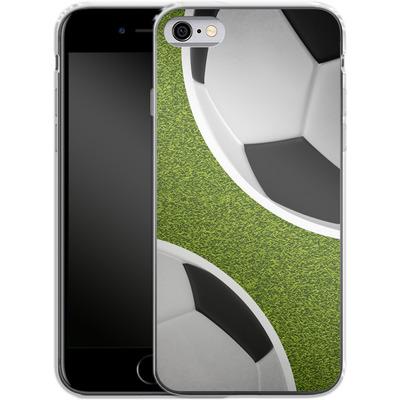 Apple iPhone 6 Silikon Handyhuelle - Two Footballs von caseable Designs