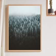 Wandmalerei mit Wald Muster ohne Rahmen