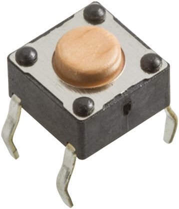 Wurth Elektronik Pink Tactile Switch, Single Pole Single Throw (SPST) 50 mA @ 12 V dc 0.9mm Through Hole