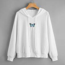Butterfly Embroidery Hoodie