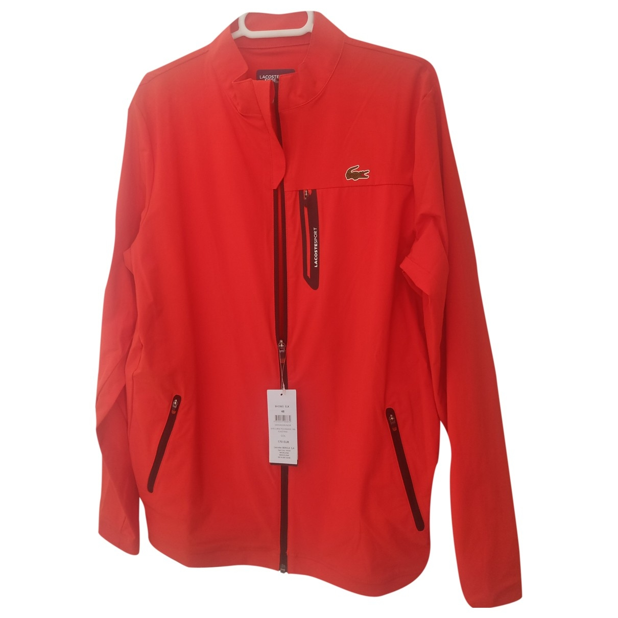Lacoste \N Jacke in  Orange Polyester