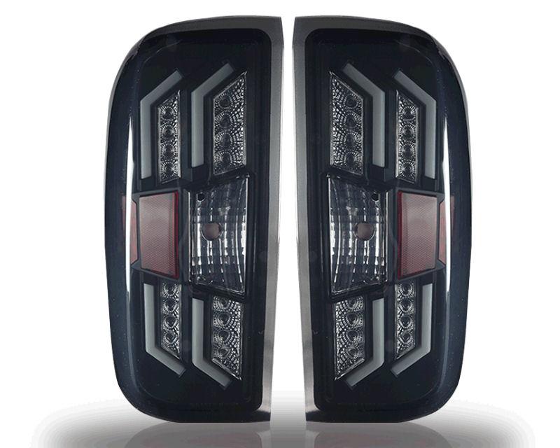 Winjet WJ20-0383-05 Smoke Black LED Tail Lights Chevrolet Silverado 2014-2017