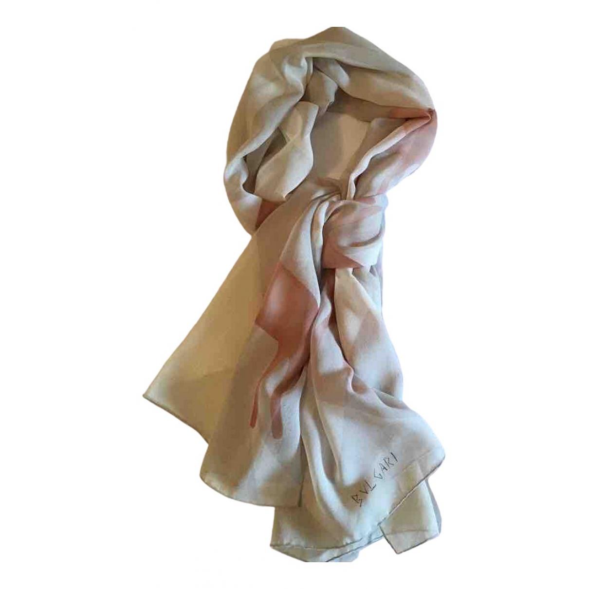 Bvlgari \N Ecru Silk scarf for Women \N