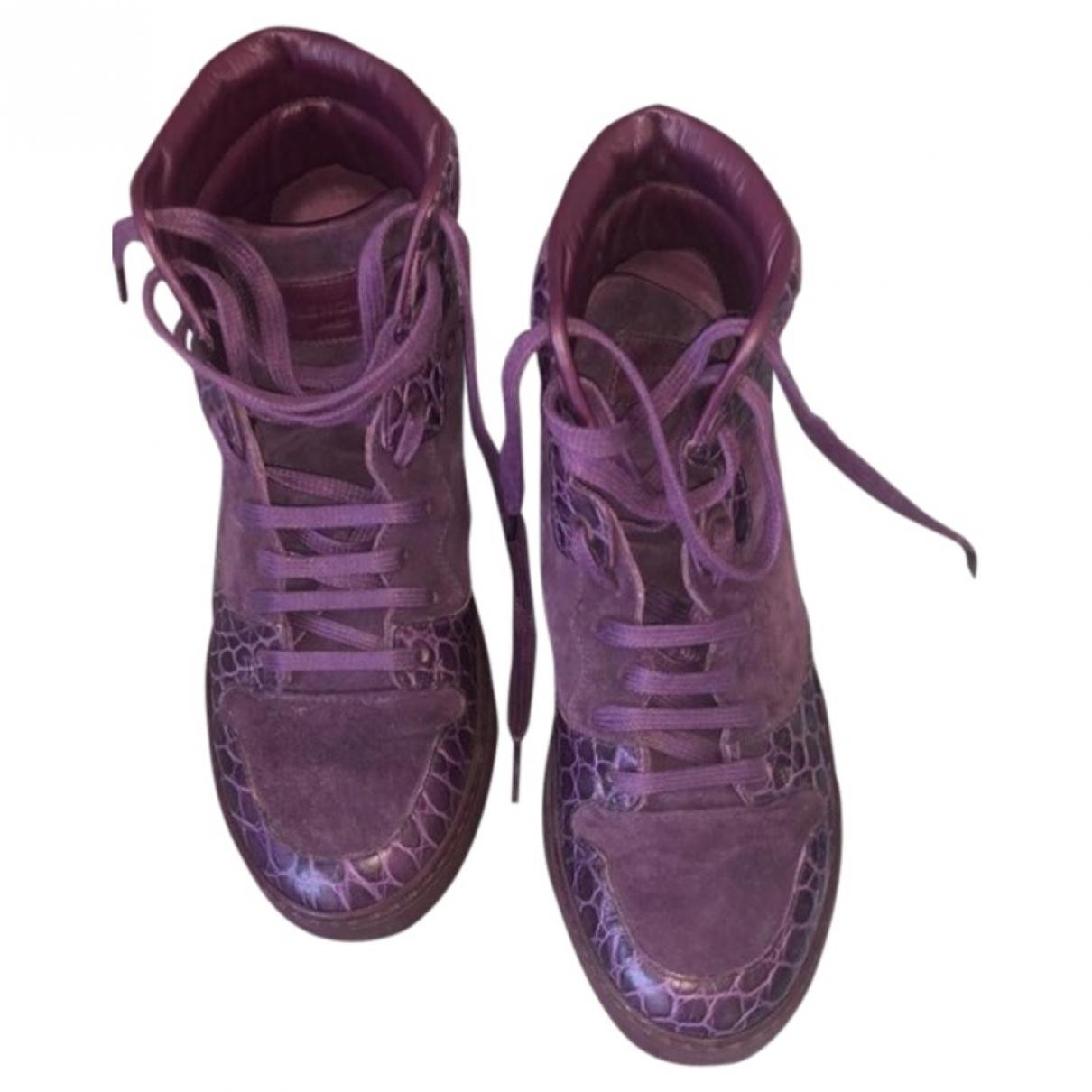 Balenciaga \N Purple Leather Trainers for Women 36 EU