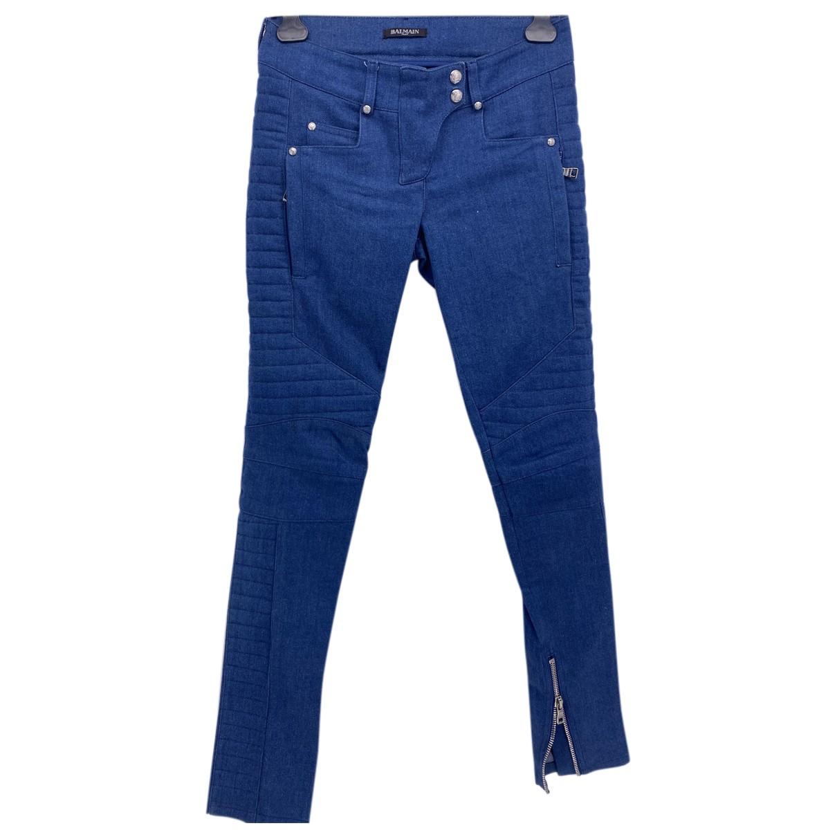 Balmain N Blue Cotton - elasthane Jeans for Women 34 FR