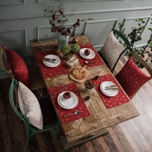 1 Stueck Tischset mit Glocke Muster