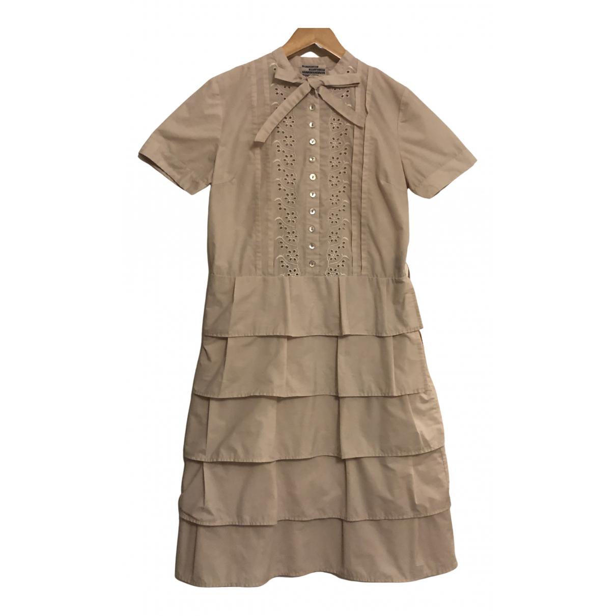 Baum Und Pferdgarten \N Kleid in  Rosa Baumwolle
