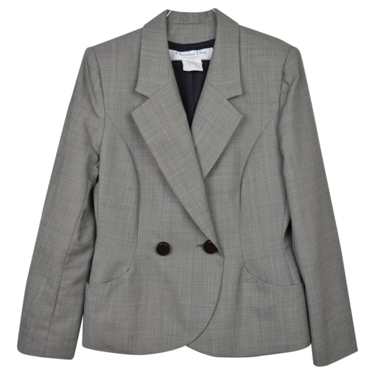 Dior - Veste   pour femme en laine - gris