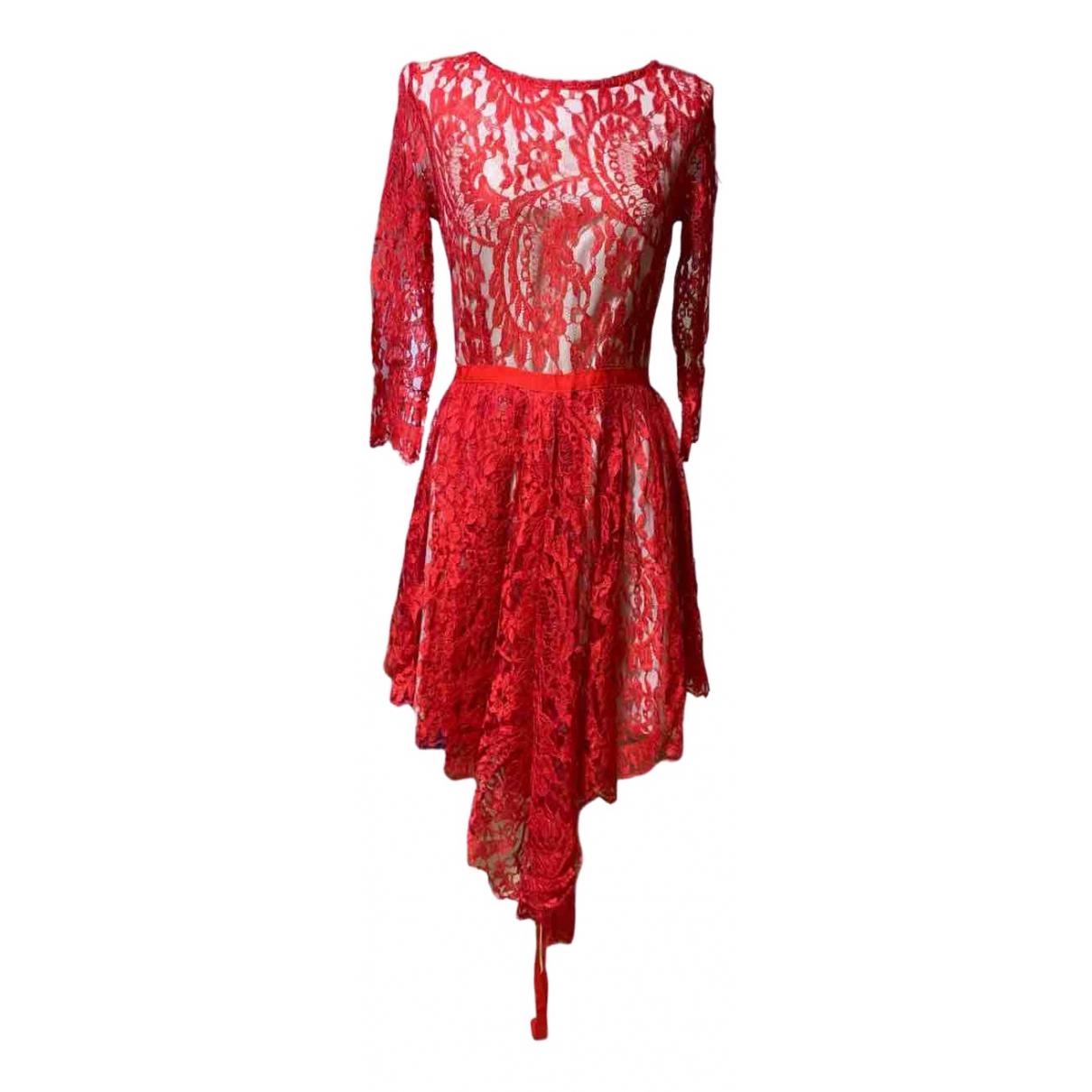 Aijek \N Kleid in  Rot Spitze