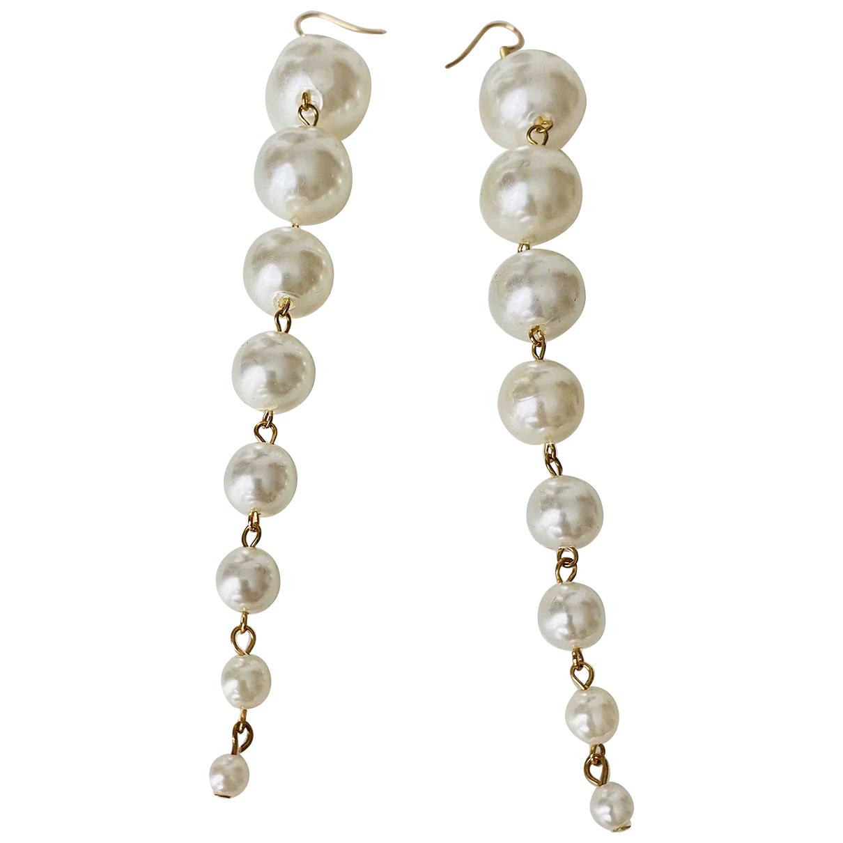 - Boucles doreilles Nacre pour femme en perle - blanc