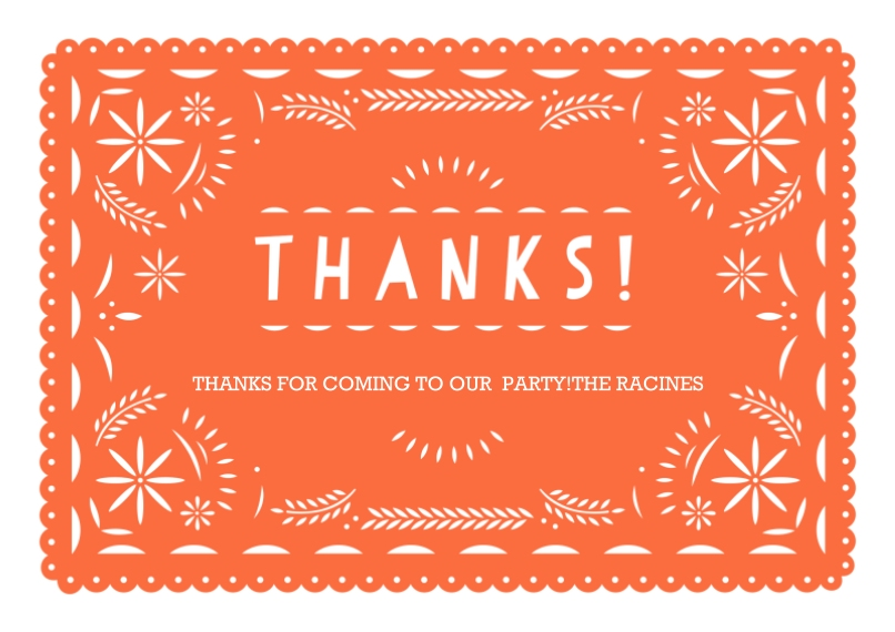 Kids Birthday Thank You Flat Matte Photo Paper Cards with Envelopes, 5x7, Card & Stationery -Paper Art Fiesta Thank You