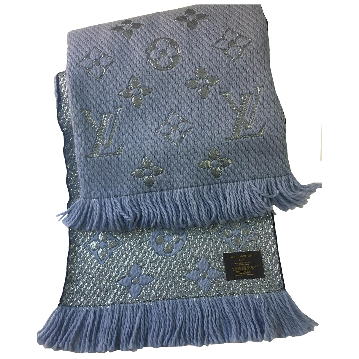 Louis Vuitton Logomania Schal in  Blau Wolle