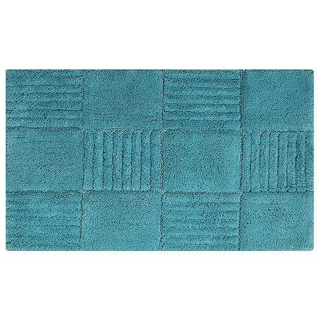 Castle Hill London Chakkar Board Bath Rug Collection, One Size , Blue