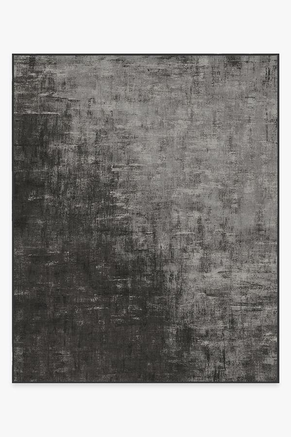 Washable Rug Cover | Impasto Greyscale Rug | Stain-Resistant | Ruggable | 8'x10'