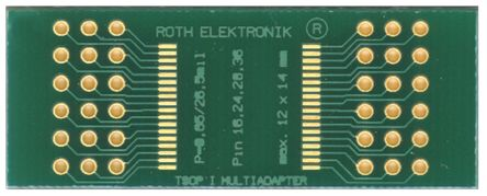 Roth Elektronik Surface Mount (SMT) Board TSOP I Epoxy Glass Double-Sided 43.5 x 16.5 x 1.5mm FR4