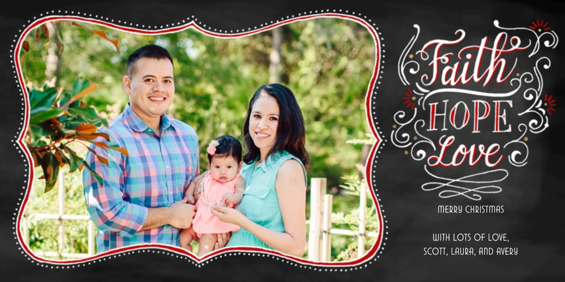 Holiday Photo Cards 4x8 Flat Card Set, 85lb, Card & Stationery -Hand-lettered Hope