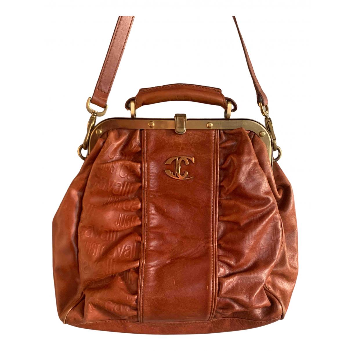 Just Cavalli \N Handtasche in  Braun Leder