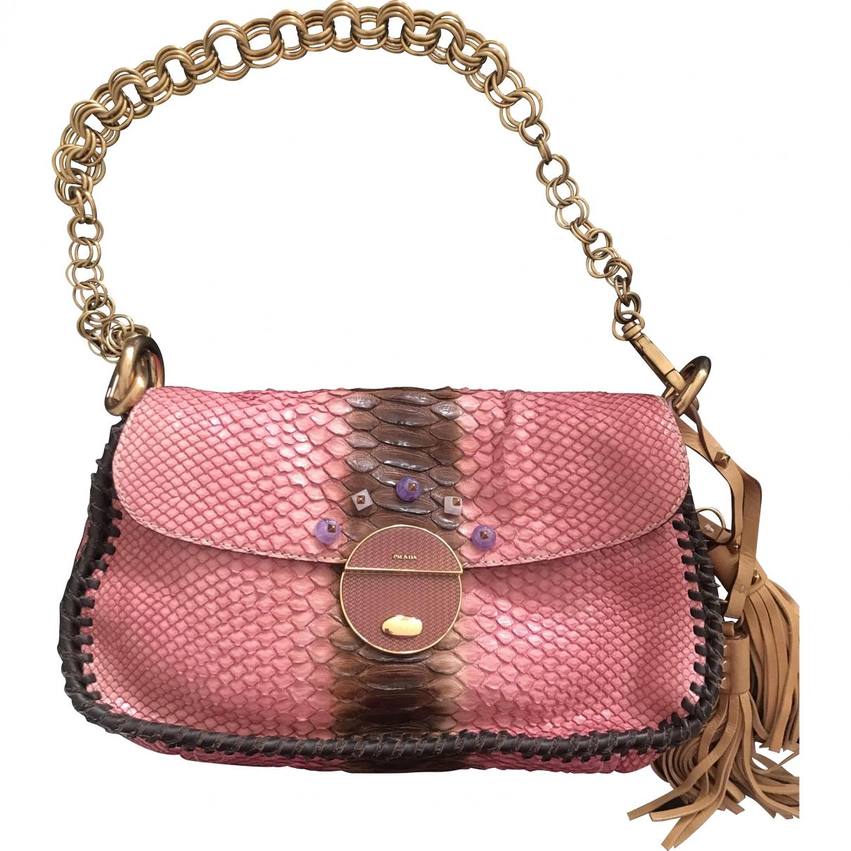 Prada \N Pink Python handbag for Women \N