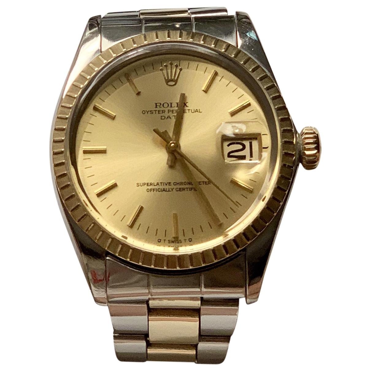 Rolex - Montre Oyster Perpetual 34mm pour homme en or et acier - jaune