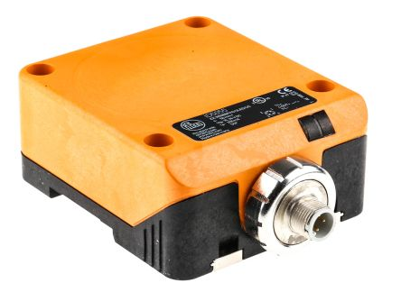 ifm electronic Inductive Sensor - Block, PNP-NO Output, 50 mm Detection, IP67, M12 - 4 Pin Terminal