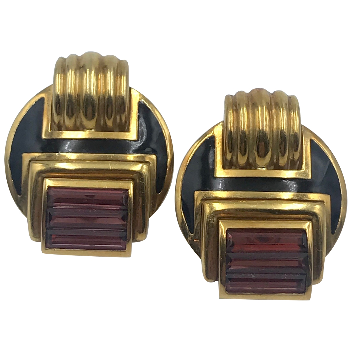 Pendientes Art Deco de Oro amarillo Non Signe / Unsigned