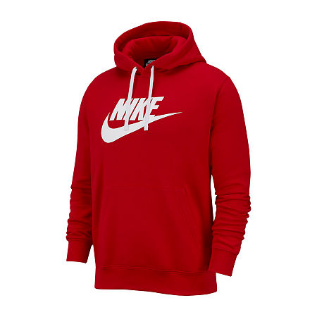 Nike Mens Long Sleeve Hoodie, Medium , Pink