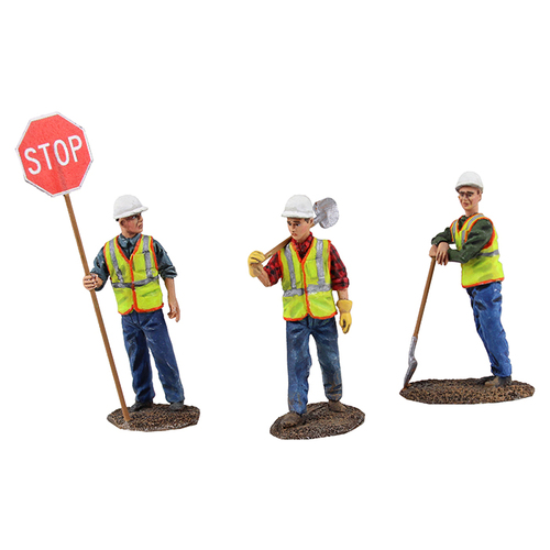 Diecast Metal Construction Figures 3pc Set 1 1/50 by First Gear