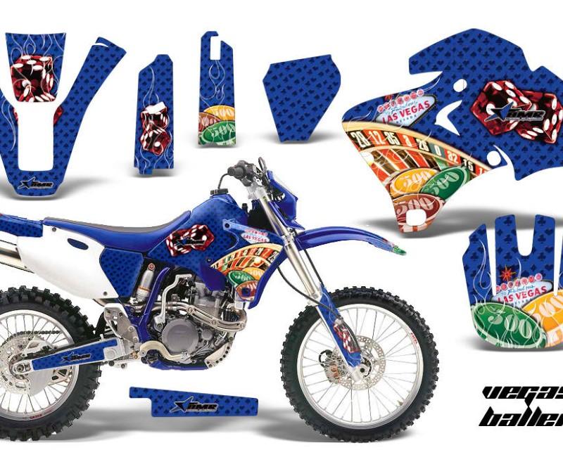 AMR Racing Dirt Bike Graphics Kit Decal Wrap For Yamaha WR 250F  400F  426F 1998-2002áVEGAS BLUE