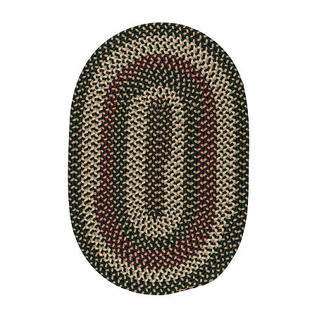 Colonial Mills Brook Farm Reversible Braided Indoor Outdoor Round Rug, One Size , Green