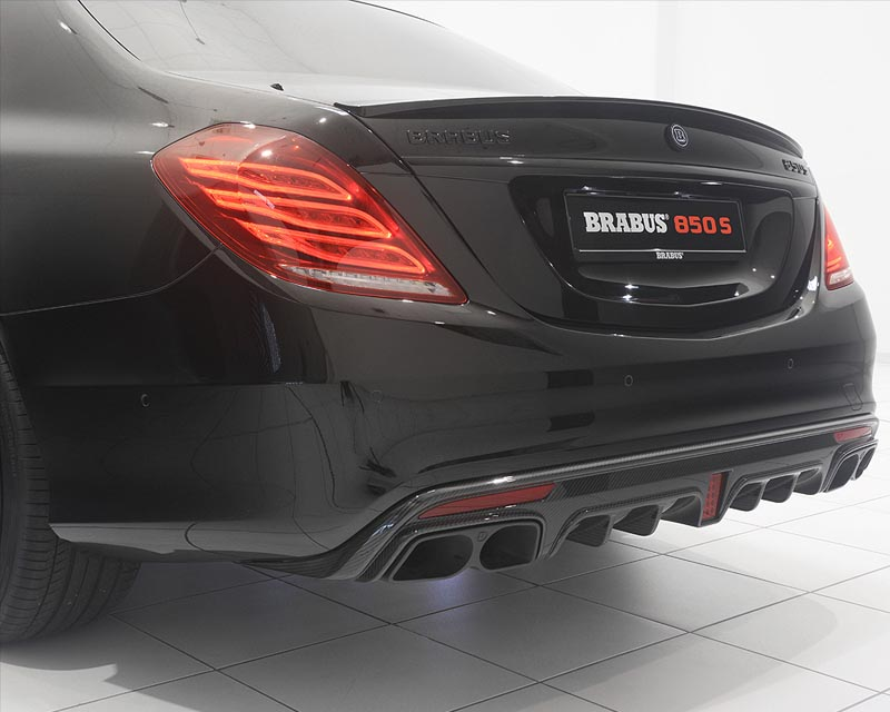 Brabus 217-463-10 Carbon Fiber Matte Rear Diffusor Mercedes Benz S63 AMG 14-16 Coupe