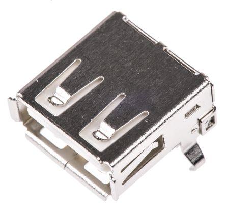 Wurth Elektronik , WR-COM USB Connector, Socket A, Solder, Right Angle