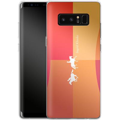 Samsung Galaxy Note 8 Silikon Handyhuelle - Geometric Silhouette von Ingrid Klimke