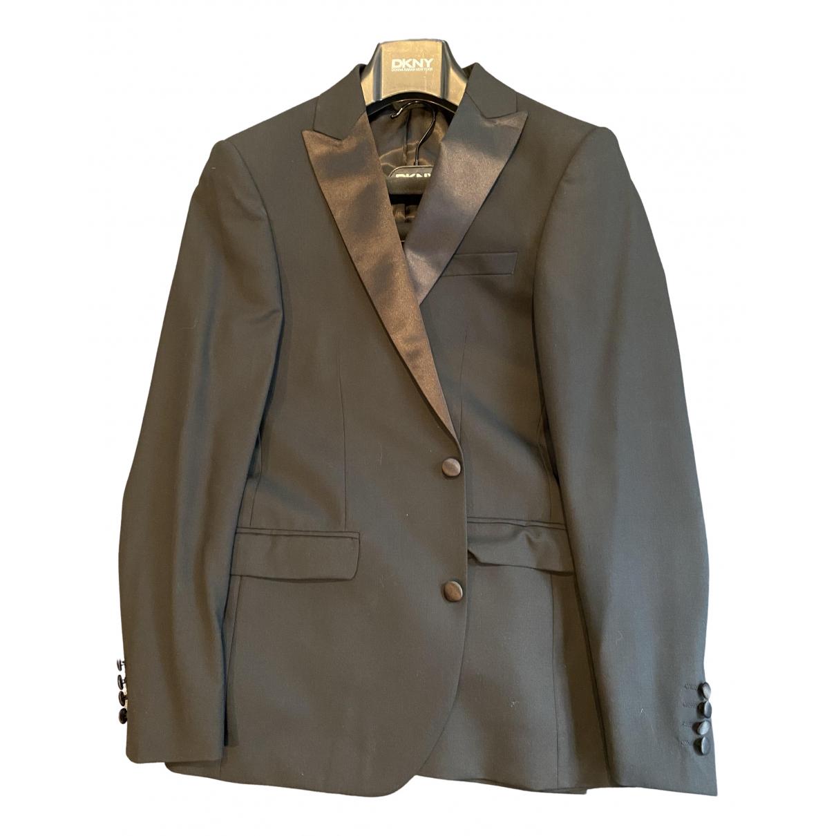 Dkny - Costumes   pour homme en laine - noir