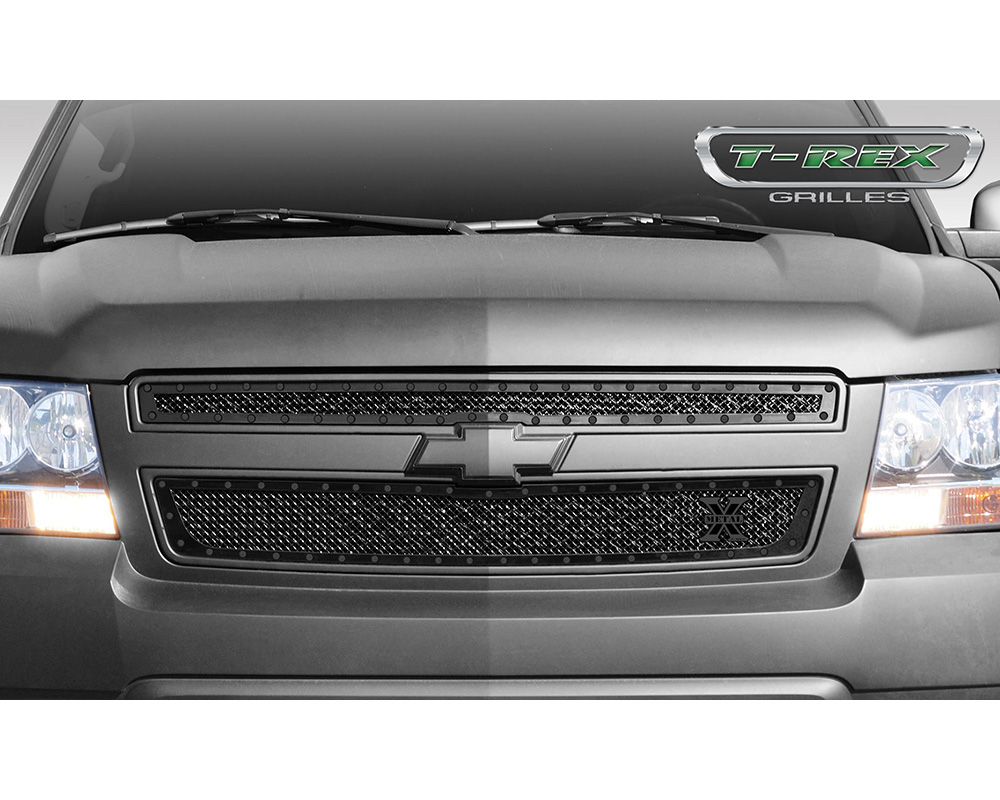 2007-2014 Chev Tahoe/Sub, 07-13 Avalanche Stealth X-Metal Grille, Black, 2 Pc, Overlay, Black Studs - PN #6710511-BR