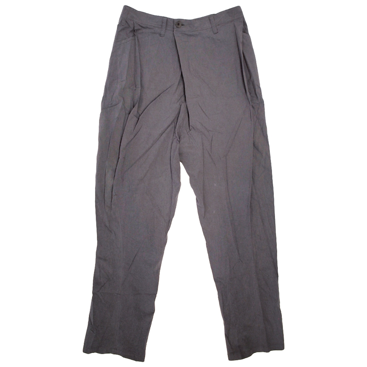 Pantalones en Algodon Gris Julius 7