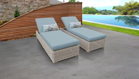 Coast Collection COAST-2x-SPA Set of 2 Chaises - Beige and Spa