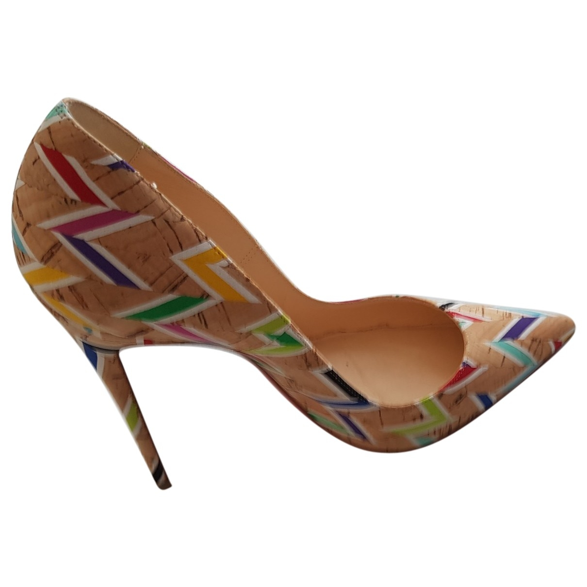 Christian Louboutin - Escarpins So Kate  pour femme en cuir - multicolore