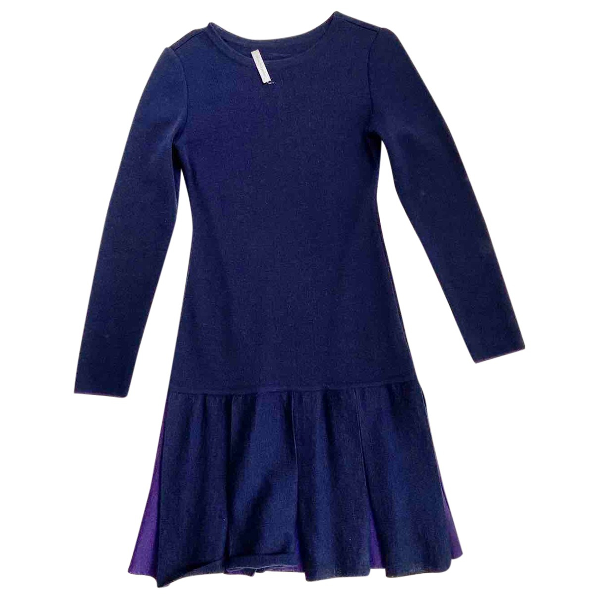 Non Signé / Unsigned \N Blue Wool dress for Women S International